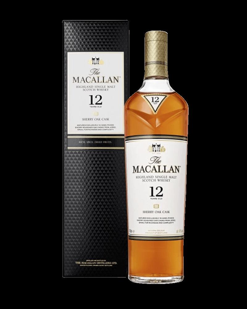 麥卡倫12年 雪利桶單一麥芽威士忌(新包裝)