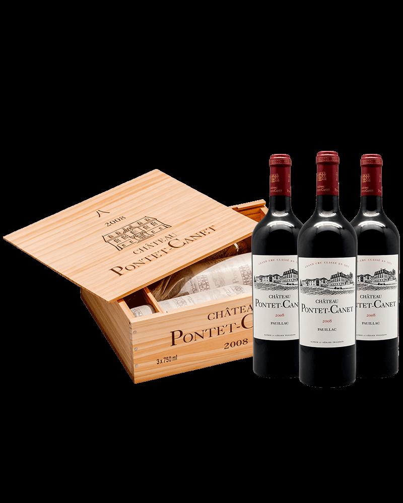 法國朋特卡內堡 八 發字限量三瓶木箱組
