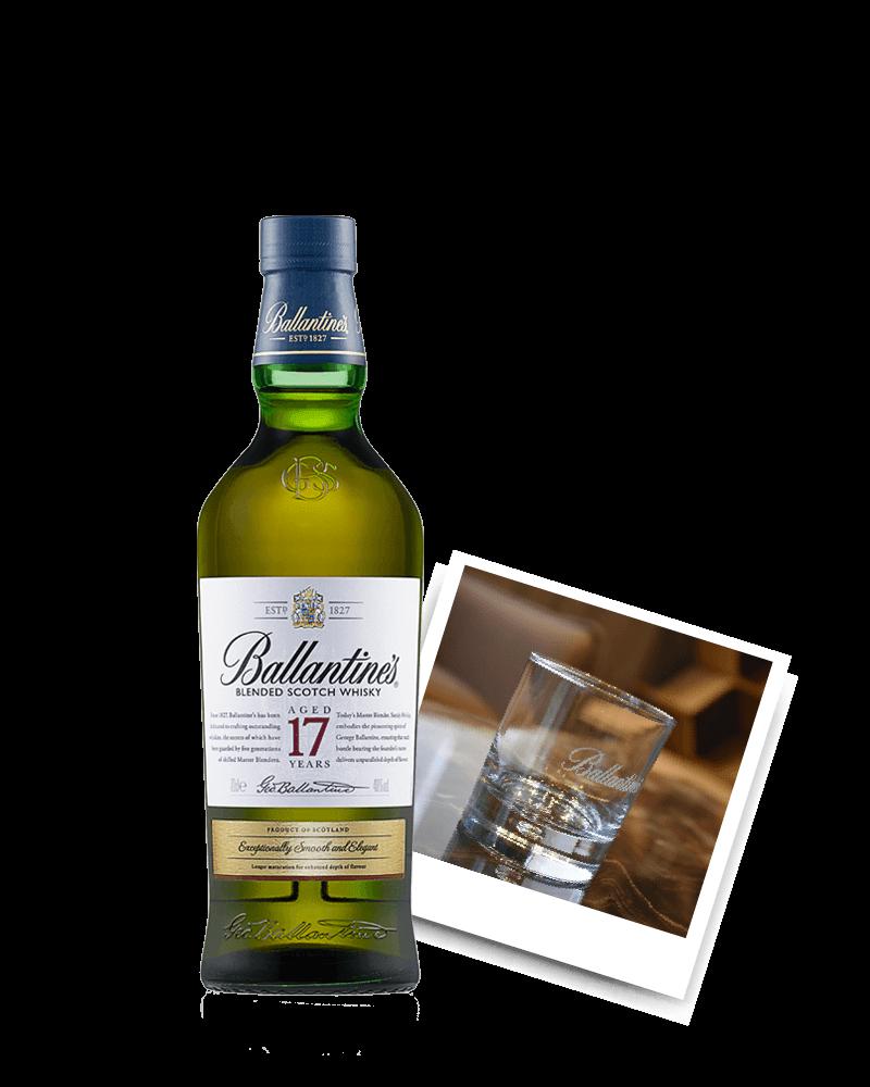百齡罈17年*1 + 百齡罈威士忌圓杯