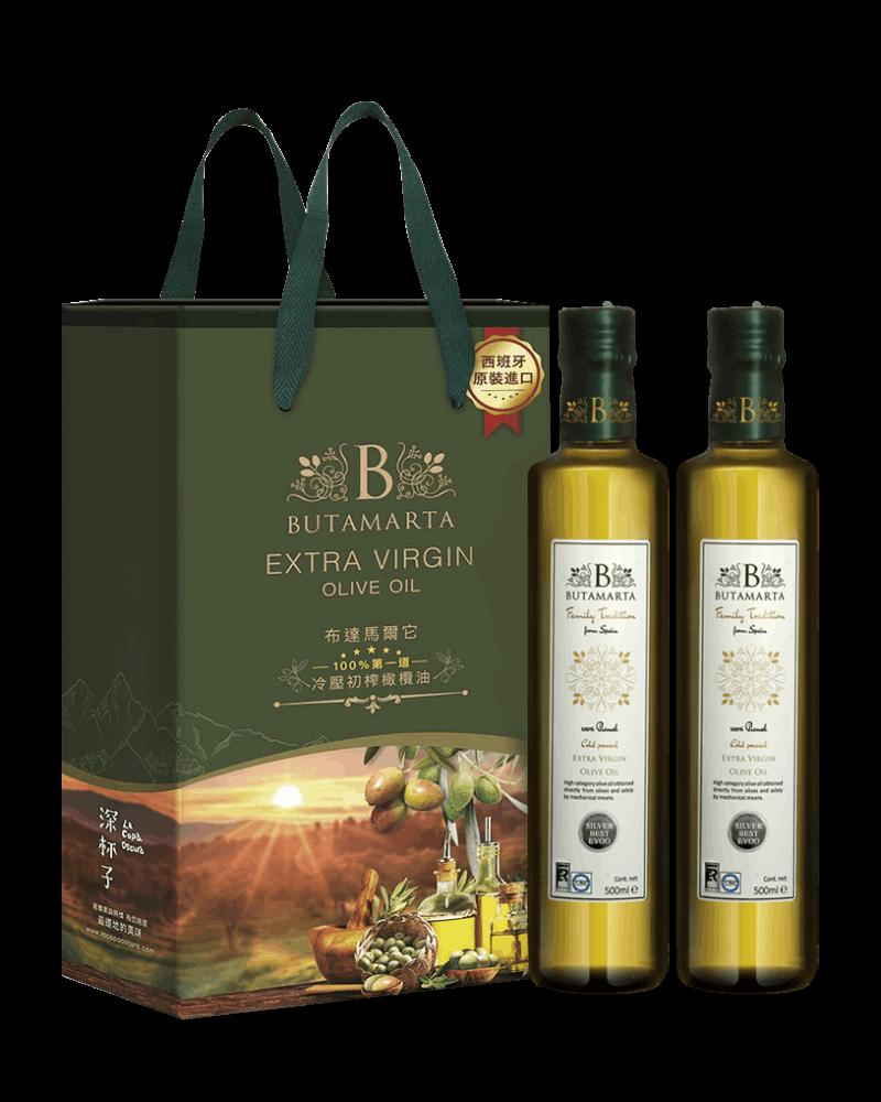 布達馬爾它特級冷壓初榨橄欖油 二入禮盒裝